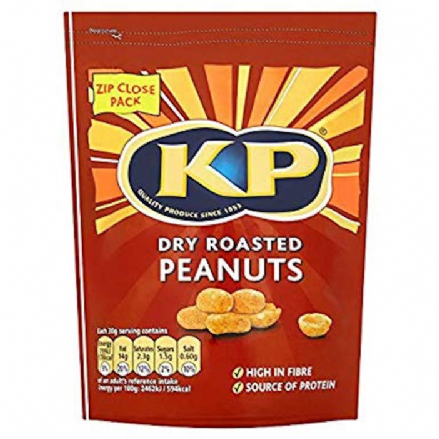 KP Dry Roasted Peanut 1kg Zip Close Bag, Source of Fibre and Protein